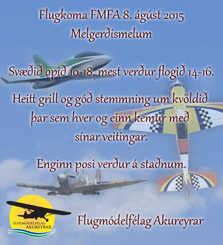 Flugkoma FMFA 8. ágúst 2015